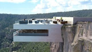 Copper Canyon Cocktail Bar Restaurant That Hangs Off The Side of a Cliff Hundreds of Feet Up