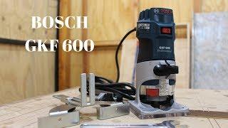 Como usar la router o fresadora de palma - Bosch GKF 600