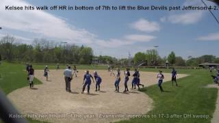 Kelsee Cashore hits walk off HR to defeat Jefferson -2017