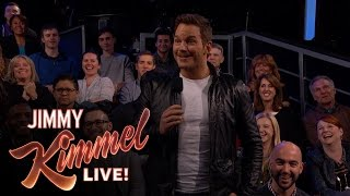 Chris Pratt Surprises Kimmel Audience with New Trailer for Guardians of the Galaxy Vol. 2