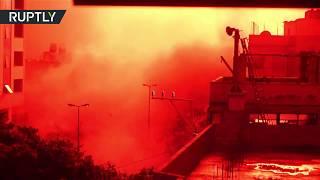 Israeli missiles destroy  TV station in Gaza amid massive border flare-up