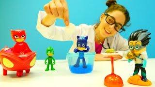 #PJmaskeliler çizgi film oyuncakları. Yaramaz Romeo Catboy'ya acı yediriyor. #Doktoroyunu.
