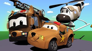 Helikopter Hela wpadła do rzeki! - Patrol Policyjny w Mieście Samochodów 🚓 🚒 Bajki Dla Dzieci
