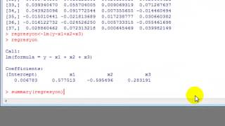 R Çoklu Doğrusal Regresyon Analizi Regression Analysis