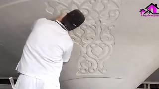 النحت والنقش على الجبس مع الفنان المغربى رحال