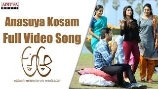 Anasuya Kosam Full Video Song    A Aa Full Video Songs    Nithiin, Samantha, Trivikram