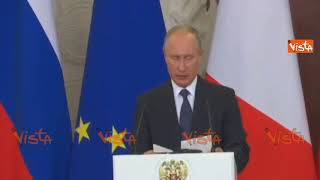 """Putin: """"Gli investimenti italiani in Russia cresciuti di oltre un miliardo di dollari"""""""