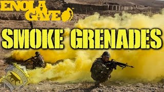 DesertFox Airsoft: Enola Gaye Smoke Grenades (WP40, EG18 and Burst Smoke)