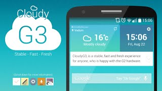How To Install CloudyG2 3.3 on LG G2 (All Models) G4 Theme
