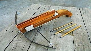Homemade Crossbow | Easiest tutorial