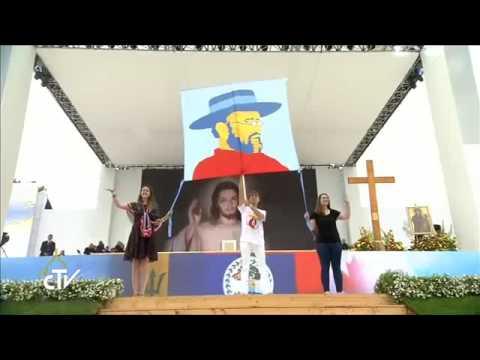 Pope Francis in Poland, Welcome Ceremony in Błonie (4min)