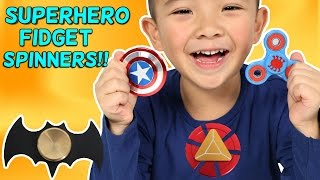 COOL SUPERHERO FIDGET SPINNER!!