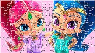 SHIMMER AND SHINE Genies Princess Jigsaw Puzzle ★ Games and Cartoons for Kids