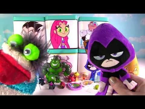 TEEN TITANS GO! Suprise Toy Blind Boxes! Cartoon Network Robin, Raven, Beast Boy, Starfire, Cyborg