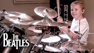 COME TOGETHER - BEATLES (7 year old Drummer) Drum Cover