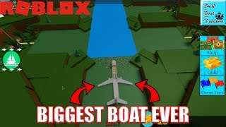 The LARGEST BOAT EVER in Build a Boat for Treasure???