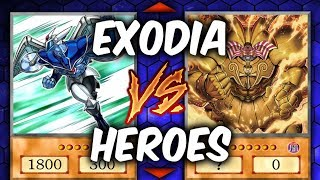 Yugioh EXODIA VS INVOKED HEROES (Yu-gi-oh Competitive Deck Duel!)