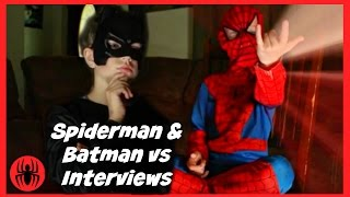 Little Heroes Spiderman & Batman vs interviews, superheroes fun in real life comics | SuperHero Kids