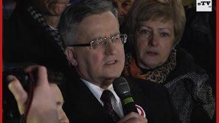 Prezydent RP Bronisław Komorowski w Starachowicach sTV audio