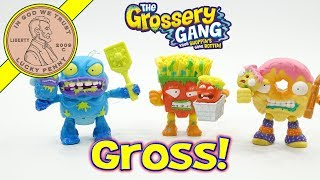 Moose Toys Grossery Gang Action Figures - Dodgey Donut - Fungus Fries - Squished Banana - Blow Fly