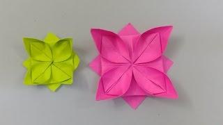 عمل زهرة رائعة بالورق - صنع وردة من الورق - اشغال يدوية