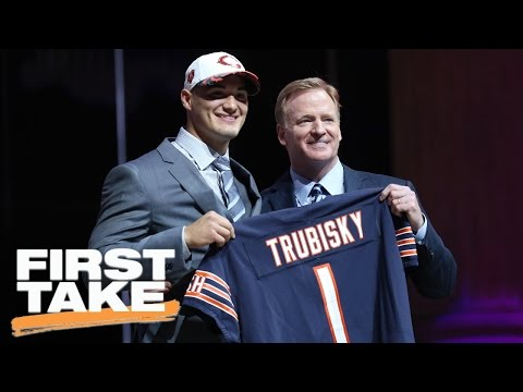 Stephen A. Disagrees With Bears' Decision To Move Up For Trubisky | First Take | April 28, 2017