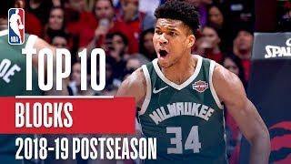 Top 10 Blocks of the 2019 NBA Playoffs | Exxon Mobil1