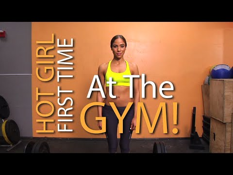 Hot Girl First Time at Gym