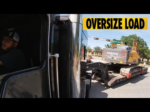 A day in the life of a heavy haul trucker kenworth moving oversize load