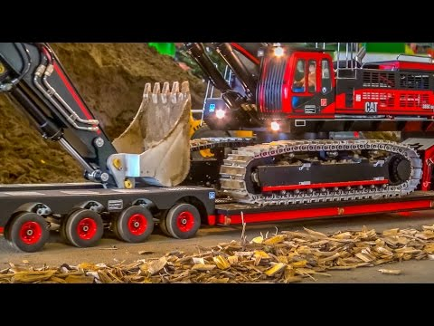 RC Truck Excavator transport! Stunning RC ACTION!