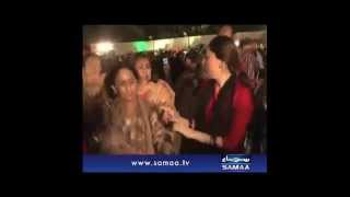 Excited SHARMILA FARROOQI Dances on Bilawal Bhutto Jalsa- 17 Oct 2014