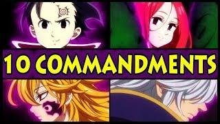 All 10 Commandments and their Powers Explained! (Seven Deadly Sins / Nanatsu no Taizai S2 Season 2)