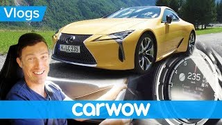 Lexus LC500 review - tested on the Autobahn and in the Alps | Mat Vlogs