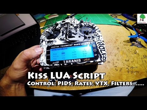 KissFC Taranis Lua Setup - Control VTX, PIDS, Rates, Filters from Taranis