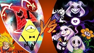 BILL CIPHER vs ASRIEL DREEMURR! (Gravity Falls vs Undertale)! Cartoon Fight Club Ep 140! REACTION!!!