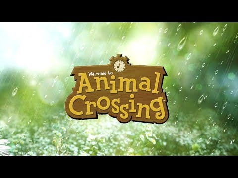 1 Hour of Relaxing Rainy Day Animal Crossing Music Rain Sounds
