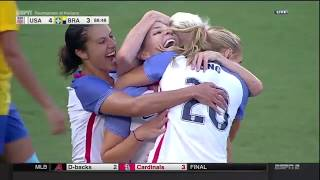 U.S. Women's National Team Score Three Goals In Nine Minutes To Beat Brazil
