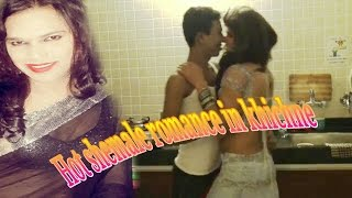 Hot shemale Romance in kitchen