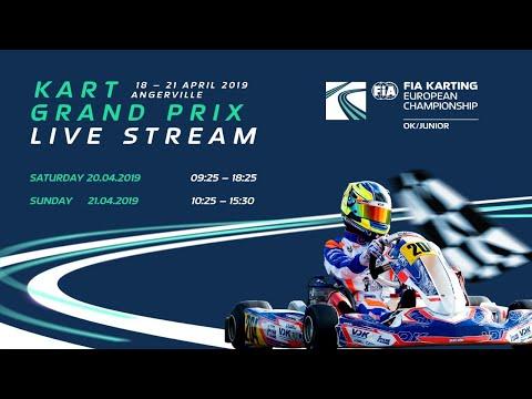 Xxx Mp4 FIA Karting European Championship 2019 OK Junior Round 1 Angerville Sunday 3gp Sex