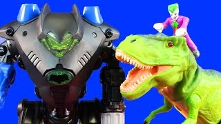 Animal Planet Remote Control T-Rex & Infrared Charging Triceratops Attack Imaginext Batman Batbot