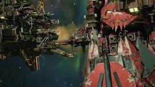 ORK BATTLESHIP DETHDEALA! - Battlefleet Gothic Armada Skirmish ORK Gameplay Part 2