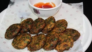 HOW TO MAKE PALAK VADA-DOLLY KITCHEN- QUICK RECIPE IN HINDI