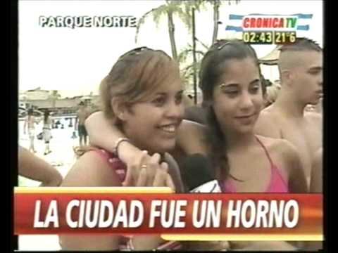 las chicas de parque norte.bikinis.estallo el verano.cronica tv.desfile hot.supernauta