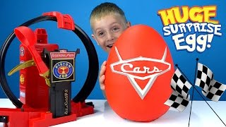 Disney Cars Play-Doh Surprise Egg with Disney Cars Toys & Lightning McQueen by KIDCITY