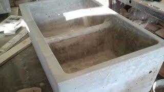 Concrete Farm Sink Double Kitchen Mold