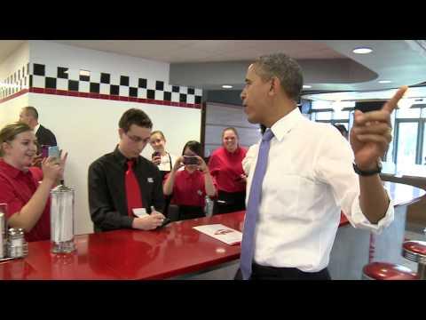 President Barack Obama Makes Surprise Visit