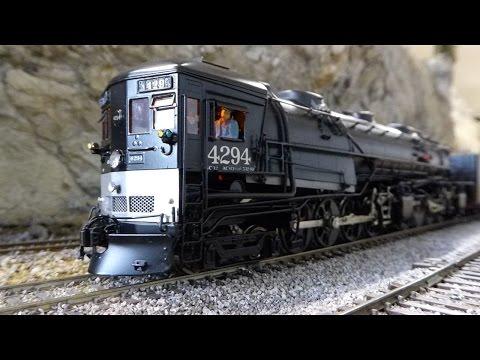 Southern Pacific/SP 4294 AC-12 Cab Forward crossing the Sierras w/PFE train.