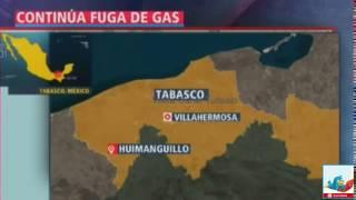 DESALOJO POR FURTE FUGA DE GAS EN HUIMANGUILLO TABASCO VIDEO 2016