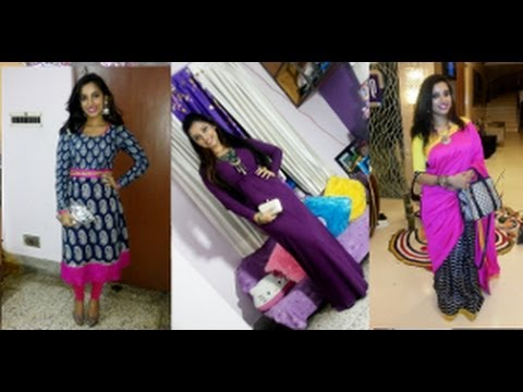 Desi ethnic outfits of the day..(Designer saree , Anarkali kurti, and maxi dress styling)