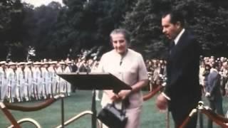 Israeli Prime Minister Golda Meir at the White House, 1969